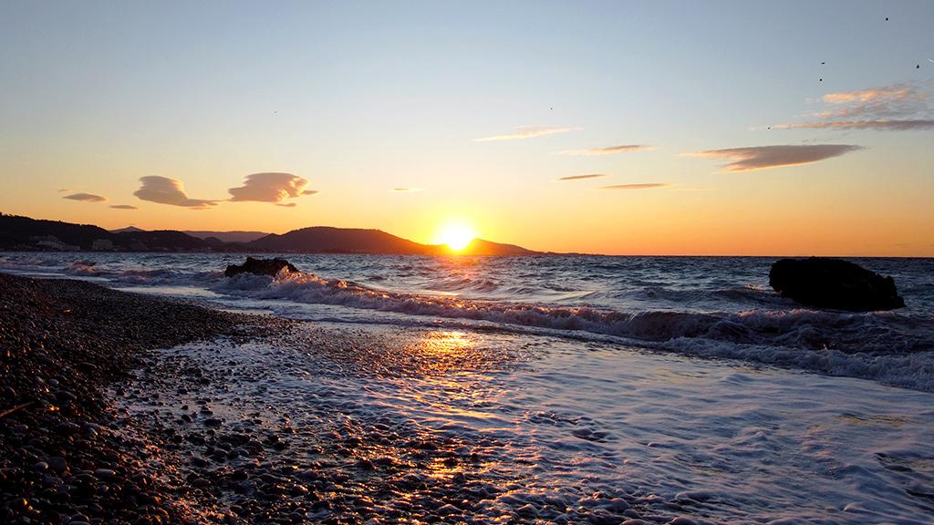 Закат, Родос